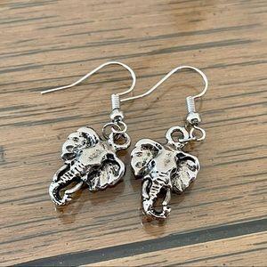 Elephant Tibetan Silver Earrings